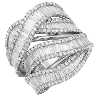 18k White Gold Women's Diamond Ring