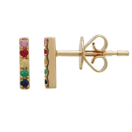 14k Yellow Gold Gemstone Earrings