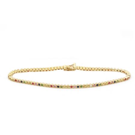 14k Yellow Gold Gemstone Bracelet