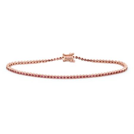 14k Rose Gold Gemstone Bracelet