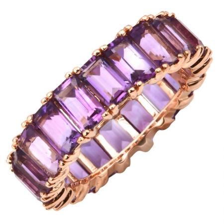 14k Rose Gold Gemstone Ring