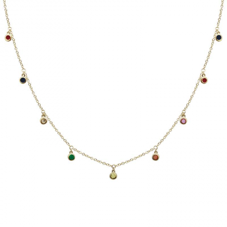 14k Yellow Gold Gemstone Necklace